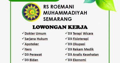 Informasi Lowongan Kerja RS. Roemani Muhammadiyah Semarang