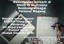 Kesempatan berkarir di RSUD dr Soetrasno Rembang sebagai Perawat Magang